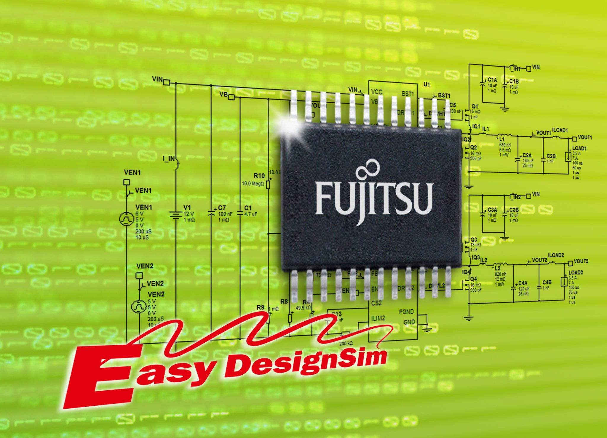 Fujitsu Announces Web Based Design Simulation Tool Easy Designsim Circuit And Softwares For Power Management Ics