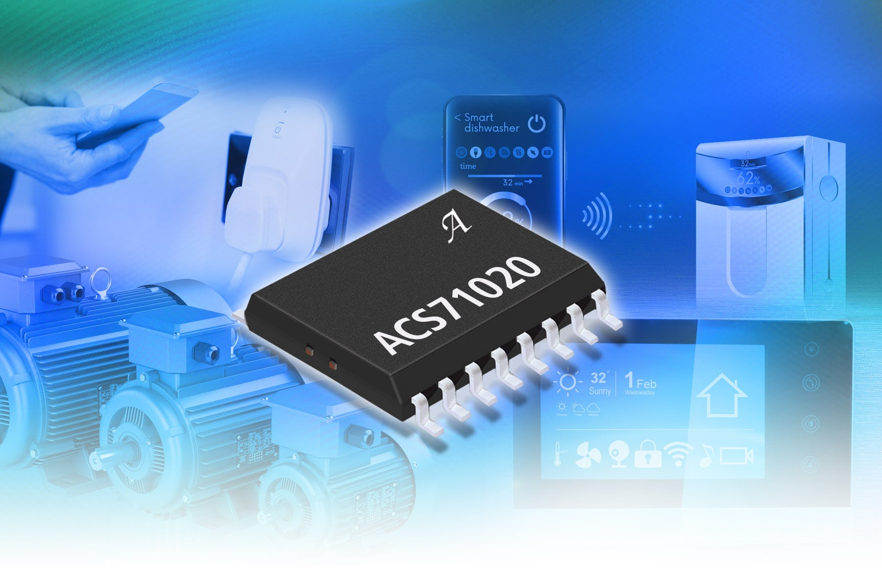 Allegro Microsystems Releases A Fully Integrated Monolithic Power Ac Current Sensor Circuit Has Released Small Form Factor Monitoring Ic With Reinforced Voltage Isolation Allegros Acs724 And Acs711