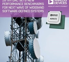 Analog Devices introduces the AD9172 series D/A converter