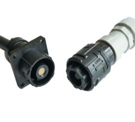 EM30M Series, High Current, 200A (Max) Waterproof, Industrial Push-On Bayonet Lock Connector