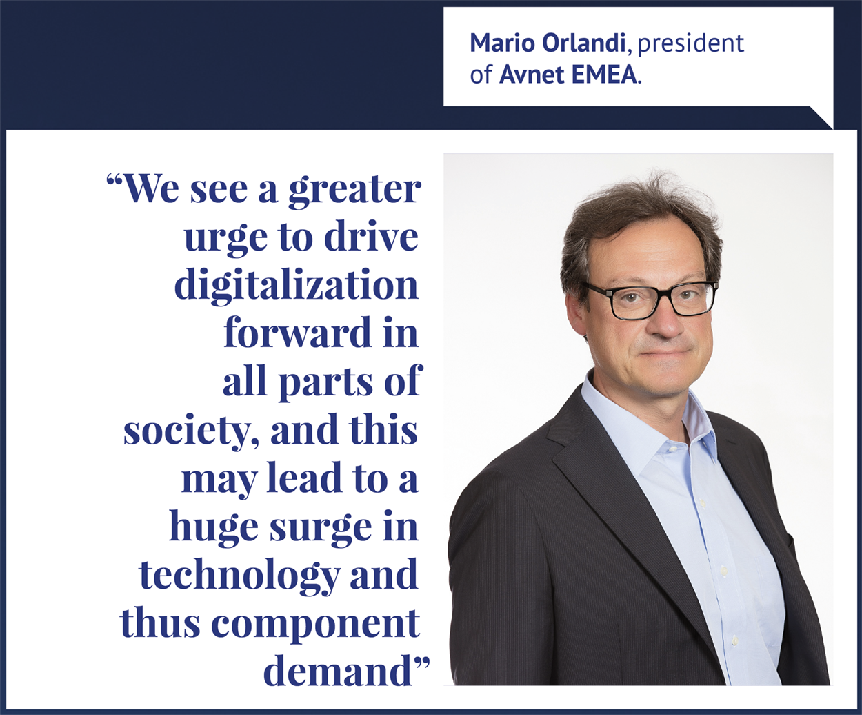 """Mario Orlandi - """"We see a greater urge to drive digitalization forward in all parts of society, and this may lead to a huge surge in technology and thus component demand"""""""