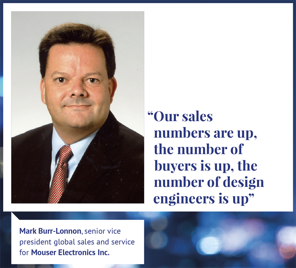 """Mark Burr-Lonnon - """"Our sales numbers are up, the number of buyers is up, the number of design engineers is up"""""""