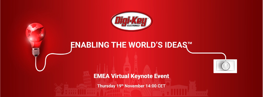 Digi-Key's virtual keynote event will take place on Thursday, Nov. 19 at 14.00 p.m. CET