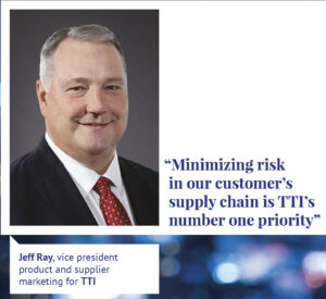 Jeff Ray, vice president product and supplier marketing for TTI