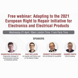 Free webinar: Adapting to the 2021 European Right to Repair Initiative for Electrical and Electronic products