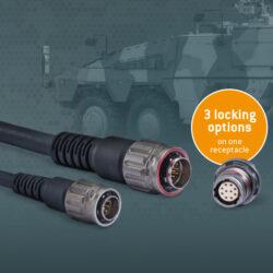 Advanced Military Connector range, the AMC® Series T